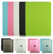 2015 New 10 Color Leather Ultra Slim Flip Stand Smart Magnetic Case Cover For iPad 2 3 4(China (Mainland))