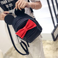 Hot 2017 PU Leather Women Korean Style Mouse Ears Bow Shoulder Bag College Girls School Bags