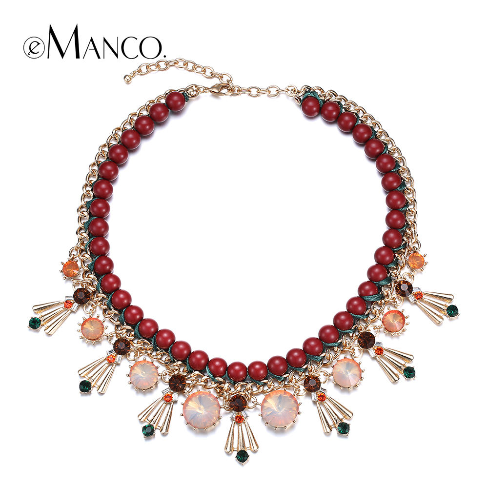 Acrylic bead choker necklace handmade rope bead necklaces for women 2015 manual series colorful collar crystal collares eManco<br><br>Aliexpress