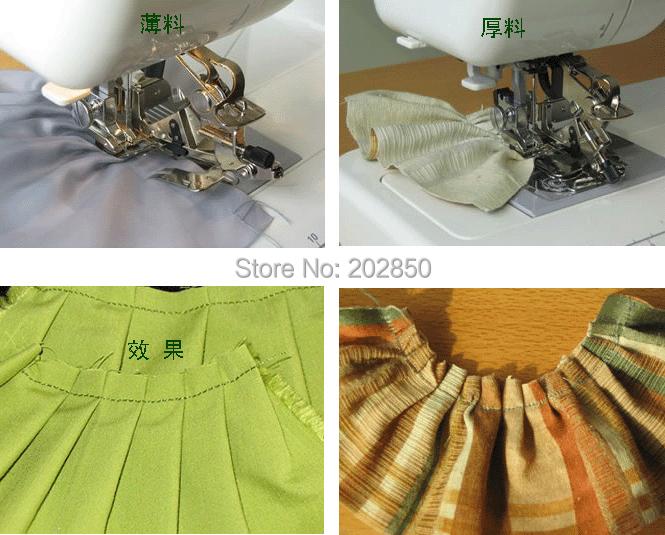 Domestic Multi-Function Sewing Machine Presser Foot,Ruffler Foot,4 Sizes of Adjustable Ruffler Images,Original,Great Quality(China (Mainland))