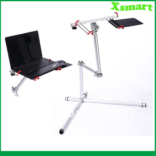 Aluminum folding Laptop table Tablet PC desk Silver(China (Mainland))