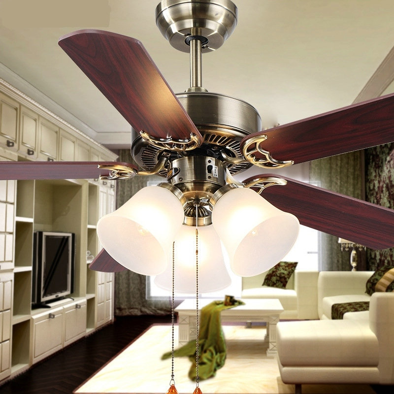 Hot New European Household Fan Lights Fan Living Room Lamp Bedroom Ceiling Fa