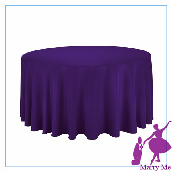 "free shipping 15pcs round 90"" purple fabric make tablecloths for large event(China (Mainland))"