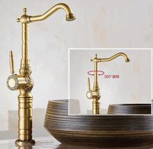 Buy High Luxury antique bronze water Tap copper carving Deck mounted Bathroom basin faucet Tall sink Faucet Mixer Tap for $88.73 in AliExpress store