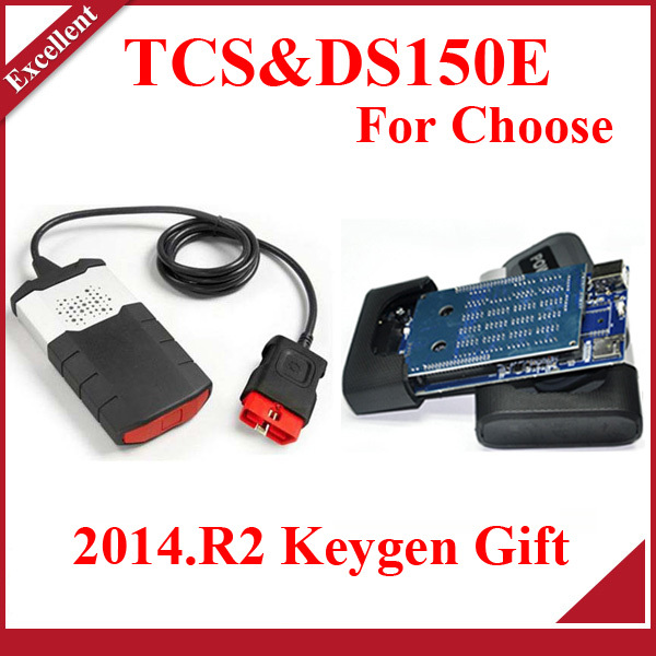 Hot selling 2014 R2 keygen GIFT ON CD ds150 ds150E TCS pro OBDII OBD2 auto scanner with LED flight function no Bluetooth(China (Mainland))
