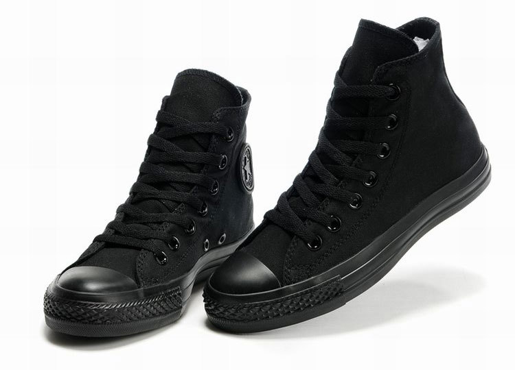 Hot Selling Classic Original Man Shoes Woman Canvas Shoes All Black High Top Low Top Casual