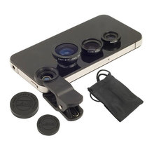3in1 Universal Fish Eye Wide Angle Macro Lens Set Cellphone Fisheye Kit for Mobile font b