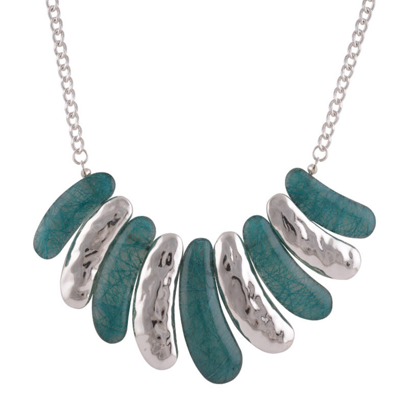 Costume Fashion Jewelry Candy Color Resin Silver Color Alloy Bib Women Necklace Hot Selling Fashion Green Necklace 2016 Vintgae(China (Mainland))