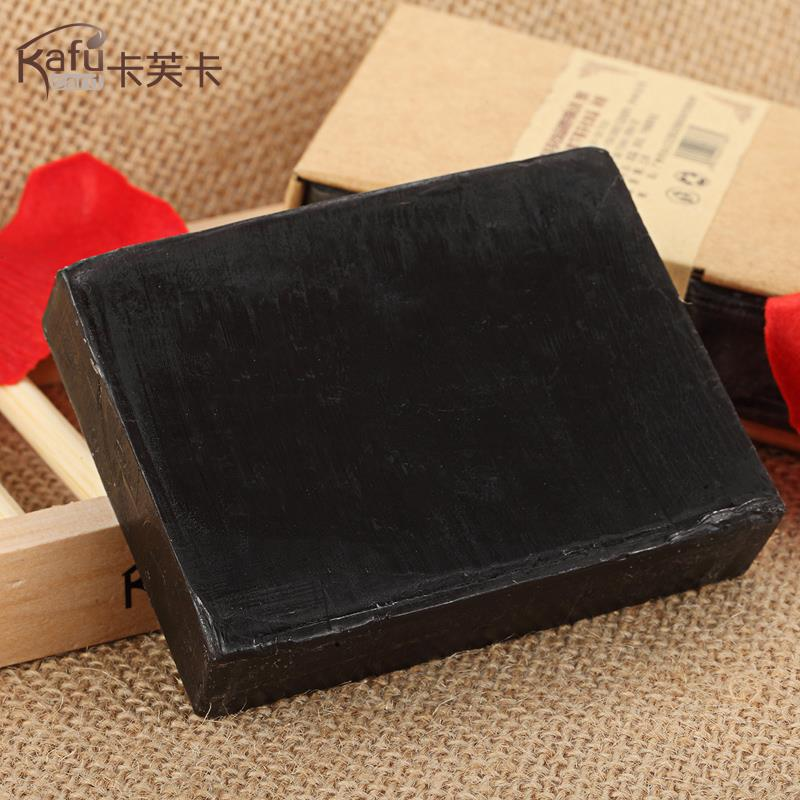 RUBI Bamboo Coal handmade black fancy soap 100g essential oil for removing Body Face Skin bacteria cleaning Herbal Ingredient(China (Mainland))