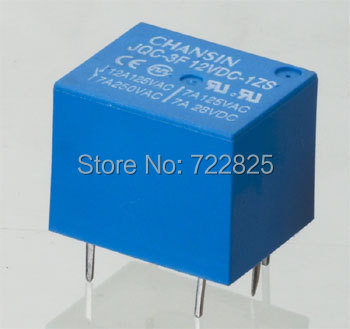 T73 Mini PCB Electromagnetic Relay JQC-3F/12VDC-1ZS Alternative for Omron G5L(China (Mainland))