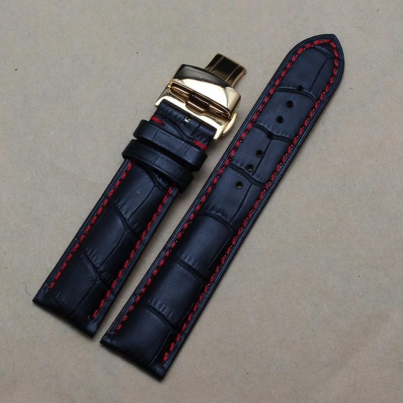 Золото из нержавеющей стали пряжка ремешок для часов для люксового бренда часы мужчины 22 мм часы ремешок ремешок браслет красной нитью дольше ремешки