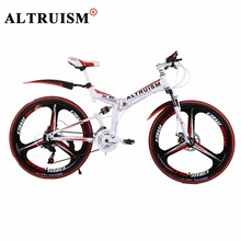 Buy ALTRUISM X6 Mountain Bike Bicicleta 21 Speed Bicycle Bmx Steel 26 Inch Bisiklet Folding Bikes Double Disc Brake Bicycles for $262.38 in AliExpress store
