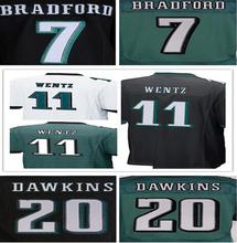 Lower Price men's jersey,Elite 11 Wentz 7 Bradford 20 Dawkins 43 Sproles 91 Cox Jerseys,Size M-XXXL,Best Quality,Authentic Jers(China (Mainland))