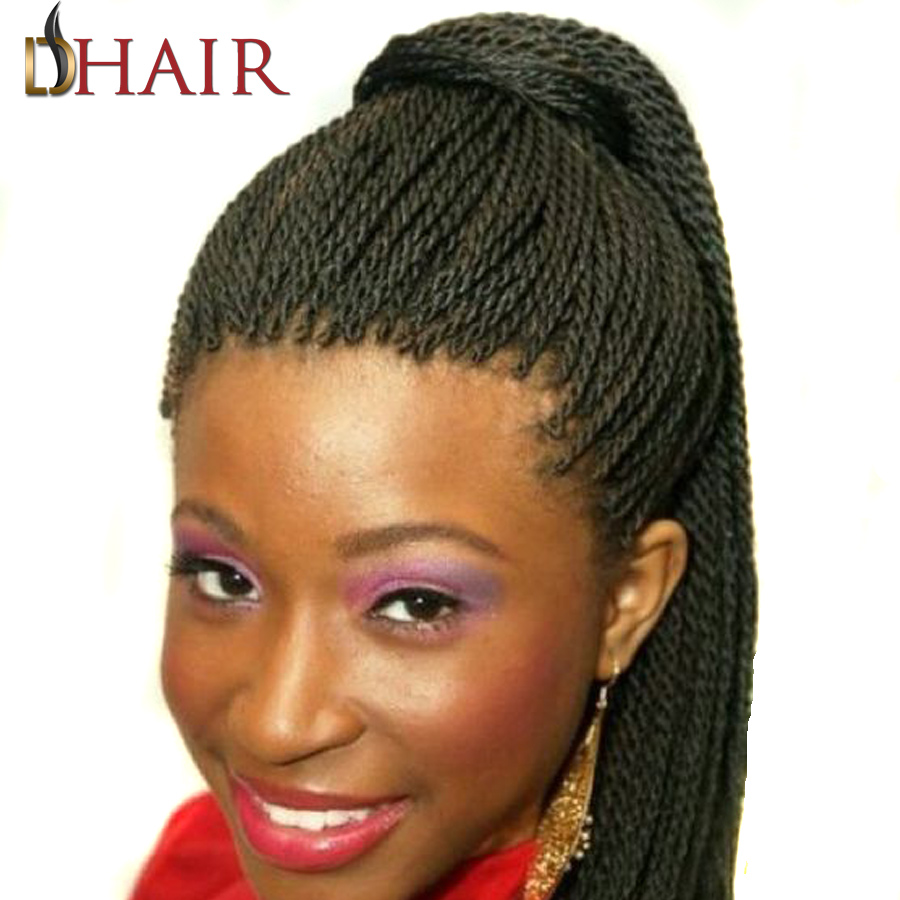 New 18 Inch Crochet Braids Box Braids Small Senegalese Twist Hair 75G 30Roots/Pack Crochets Braids With Hair Accessories As Gift