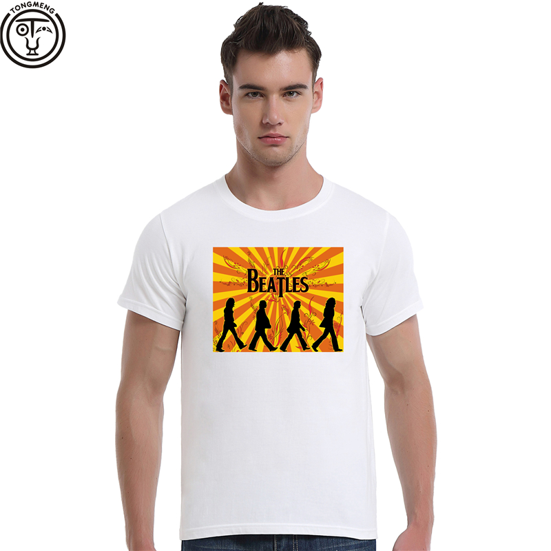 Punk Rock Band The Beatles Abbey Road Summer Short Sleeve T-Shirt Streetwear Cotton Tee Shirt For Man 1363(China (Mainland))