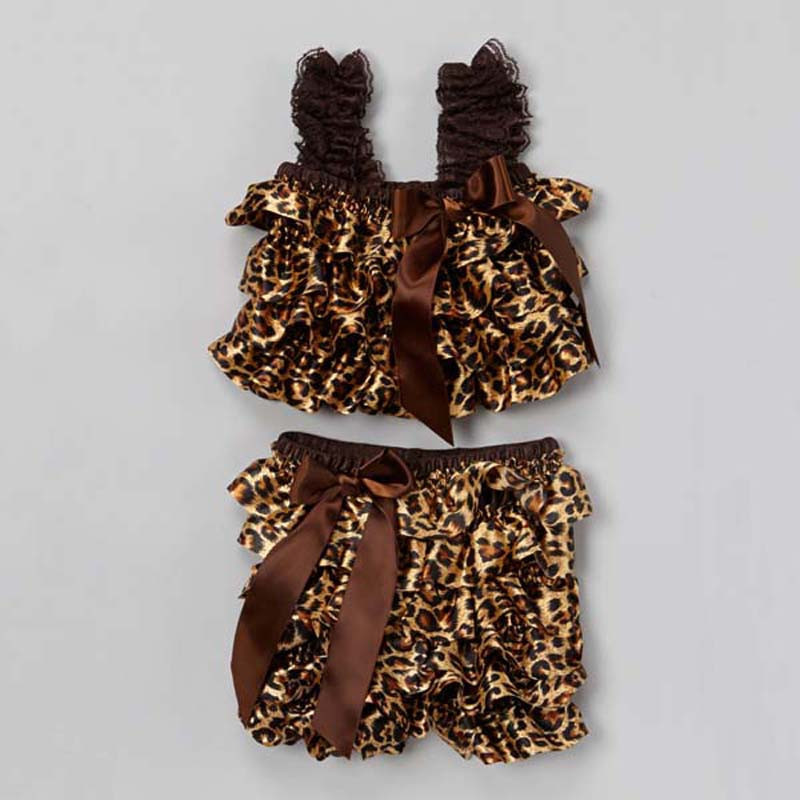 2015 Toddler Baby Summer Romper Outfit Sleeveless Straps Lace Ruffle Petti Romper Set And Pants Baby Bloomers(China (Mainland))