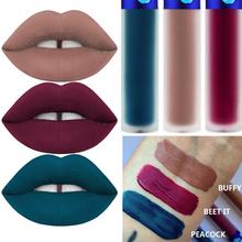 3 Color/Pack 2016 Cashmere Velvet Matte Lipstick Waterproof Lip Gloss Peacock Beetit Velvet Matte Liquid Lipstick (China (Mainland))