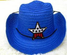Five-pointed star children straw beach hat sun hat summer outdoor Baby