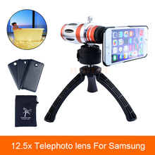 Buy High 12.5X Telescope Zoom Telephoto Lens Samsung Galaxy S3 S4 S5 S7 S6 edge Plus Case Phone Camera Lenses Tripod for $26.82 in AliExpress store