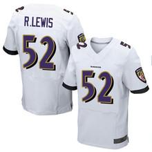 Men's #52 Ray Lewis Elite White Jersey 100% stitched(China (Mainland))