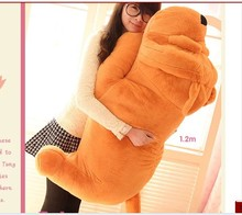 stuffed animal shar pei dog plush toy about 120cm Lies prone dog  doll 47 inch throw pillow toy b9221