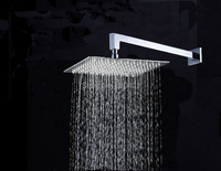 "Modern Square Wall Mounted Shower Head Shower Arm 8"" Over-head Shower Sprayer"