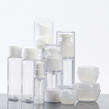 (9pieces/set) Small Empty Portable Outdoor Travel Bottle Set For Skincare Make Up Vacuum Cosmetic Bottle Cream Bottle Container(China (Mainland))