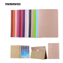 Buy New ipad 9.7 Inch 2017 Low Cost Tablet Protective Cases Pda Pu Leather Solid Cover Smart Sleep Ipad Series YNMIWEI for $8.99 in AliExpress store