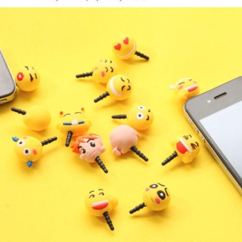 60pcs/lot Free Shipping 36 expression ks kawaii cartoon animal Anti dust plug for cell phone/kpop cute anime headphones cap(China (Mainland))
