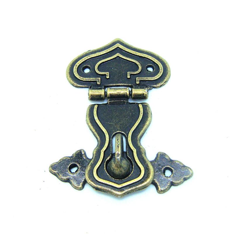 20pcs jewelry box latch 64*48Antique alloy hasp lock box clasp retro wooden gourd lock clasp door(China (Mainland))