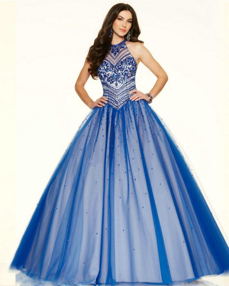 Prom dresses blue long