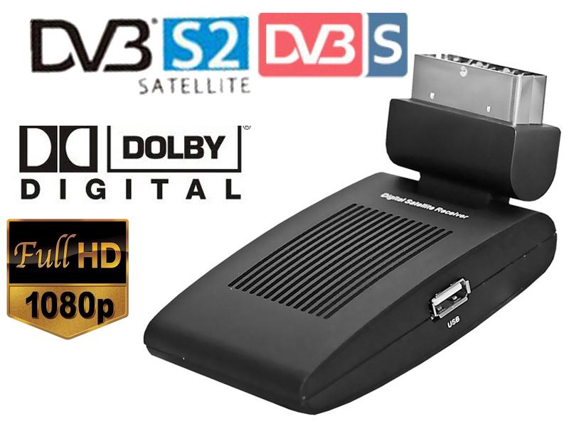 The smallest mini scart HD DVB-S2 satellite tv receiver compatilbe with DVB-S/MPEG-4/H.264 dvb s2 tuner Digital TV Satellite(China (Mainland))