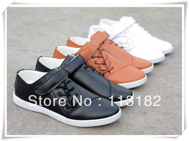 New 2013 3 colors male autumn or winter casual shoes athletic lazy fashion shoes leather the tide skateboarding shoes or flats