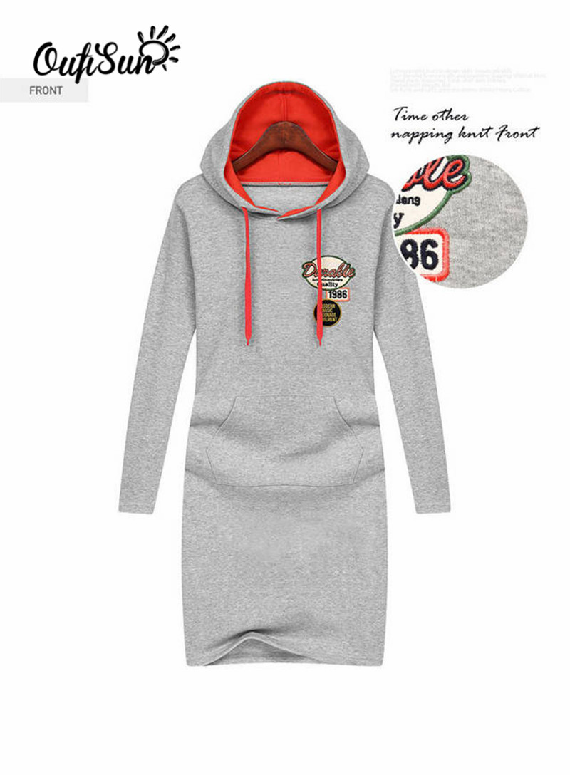 2016 Autumn and winter new women's hoodies, long-sleeved dress hooded sweatshirt, large-size thick warm casual sweatshirt(China (Mainland))