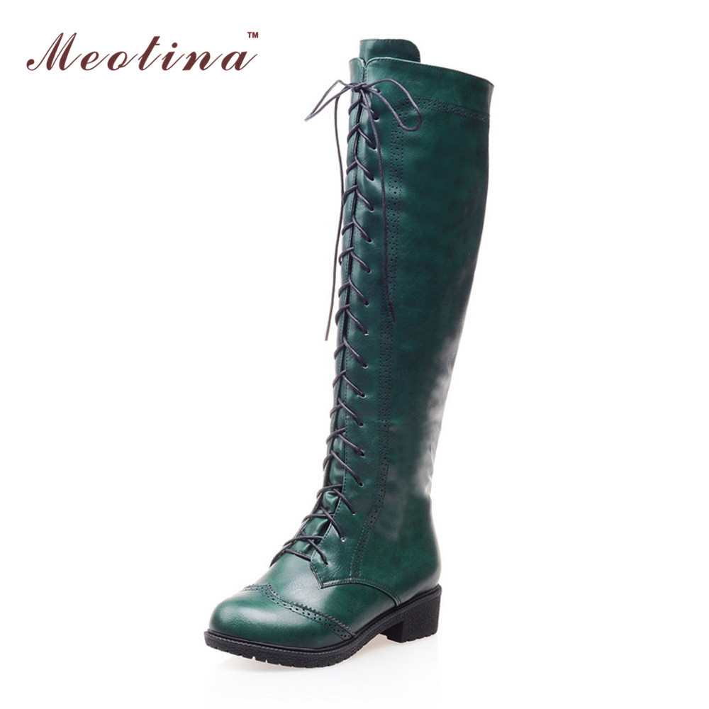 2016 women motorcycle boots round toe chunky heel riding boots shoes