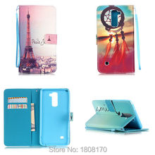 Chain Cartoon Wallet Leather Pouch Flip Case LG K4 K8 Stylus 2 LS775 Huawei P9 Lite Eye Tower Card TPU Soft Cover 5 - Saleonline store