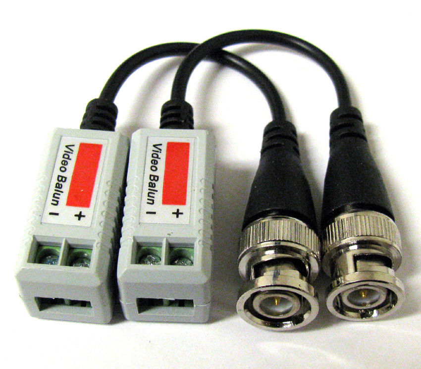 New 12 x Coax CAT5 Camera CCTV BNC Video Balun with Cable Transceiver(China (Mainland))