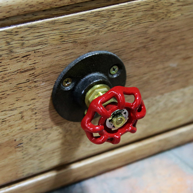 1PC New Brand Vintage Industrial Pipe Door Knobs Drawer Cabinet Wardrobe Furniture Pull Handle Knobs for Kitchen/Batchroom Z47(China (Mainland))