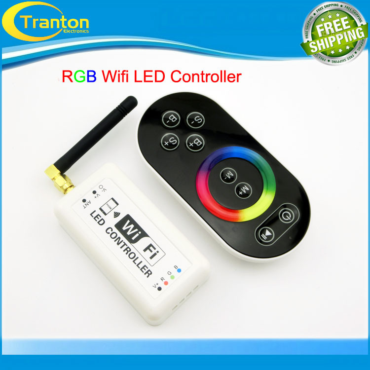 16 Millions color Wifi RGB LED controller,Unique design&top quality,for Iphone,Android 2.3Version IOS,DC7.5-24V,With music mode(China (Mainland))