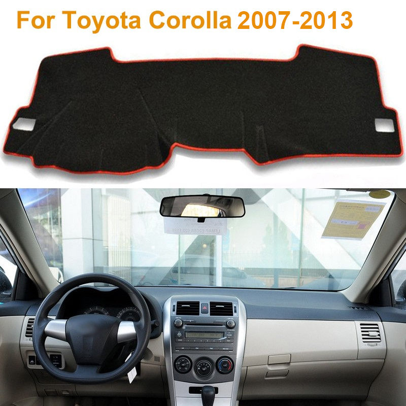 Фотография 2016 Car Styling Dashboard Protective Mat Shade Cushion Photophobism Pad Interior Carpet For Toyota Corolla 2007-2013