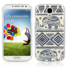 Case Cover Cases Covers Blue Elephant Rubber Soft TPU Case Cover For Samsung Galaxy S4 i9500 jimshopping(China (Mainland))