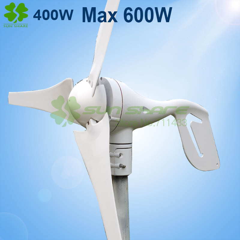 hot selling Max Power 600w small wind generator DC12V /24V output . start up wind speed 2.5m/s<br><br>Aliexpress