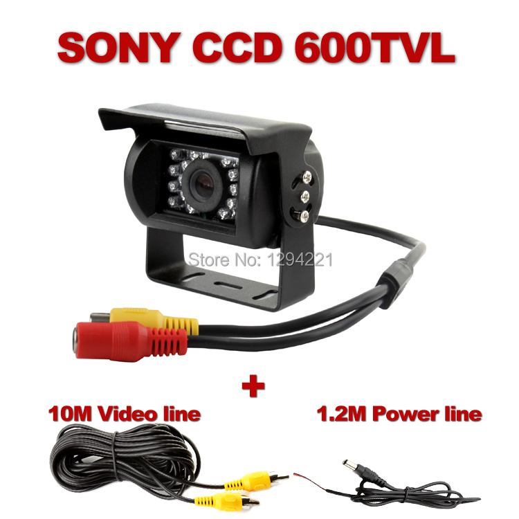Freeshipping Night Vision 600tvl Waterproof IP68 Packing Rearview Camera for Bus Truck school bus(China (Mainland))