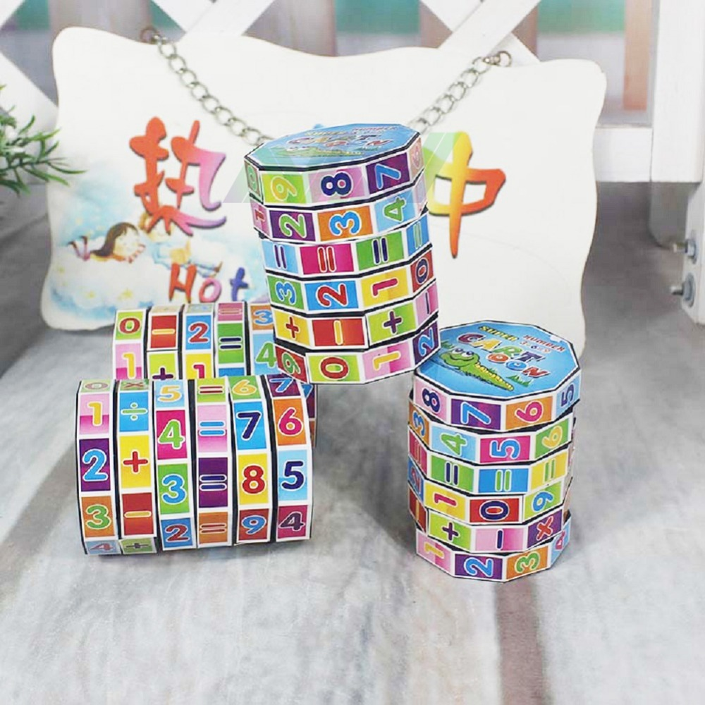 7*5.5CM Fashion Mathematics Numbers Magic Cube Toy Puzzle Game for Children Kids Math Education and Fonny Free Shipping(China (Mainland))