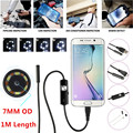 1M 7mm Lens HD 480P USB Endoscope Waterproof 6 LEDs Inspection Pipe Camera Snake Tube For