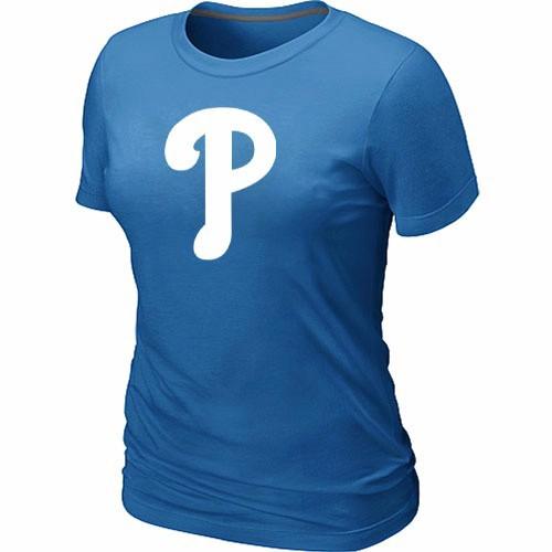 MLB Philadelphia Phillies Heathered L.blue Women's Nike Blended T-Shirt