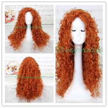 Animated movie of Brave MERIDA cosplay wig+a wig cap(China (Mainland))
