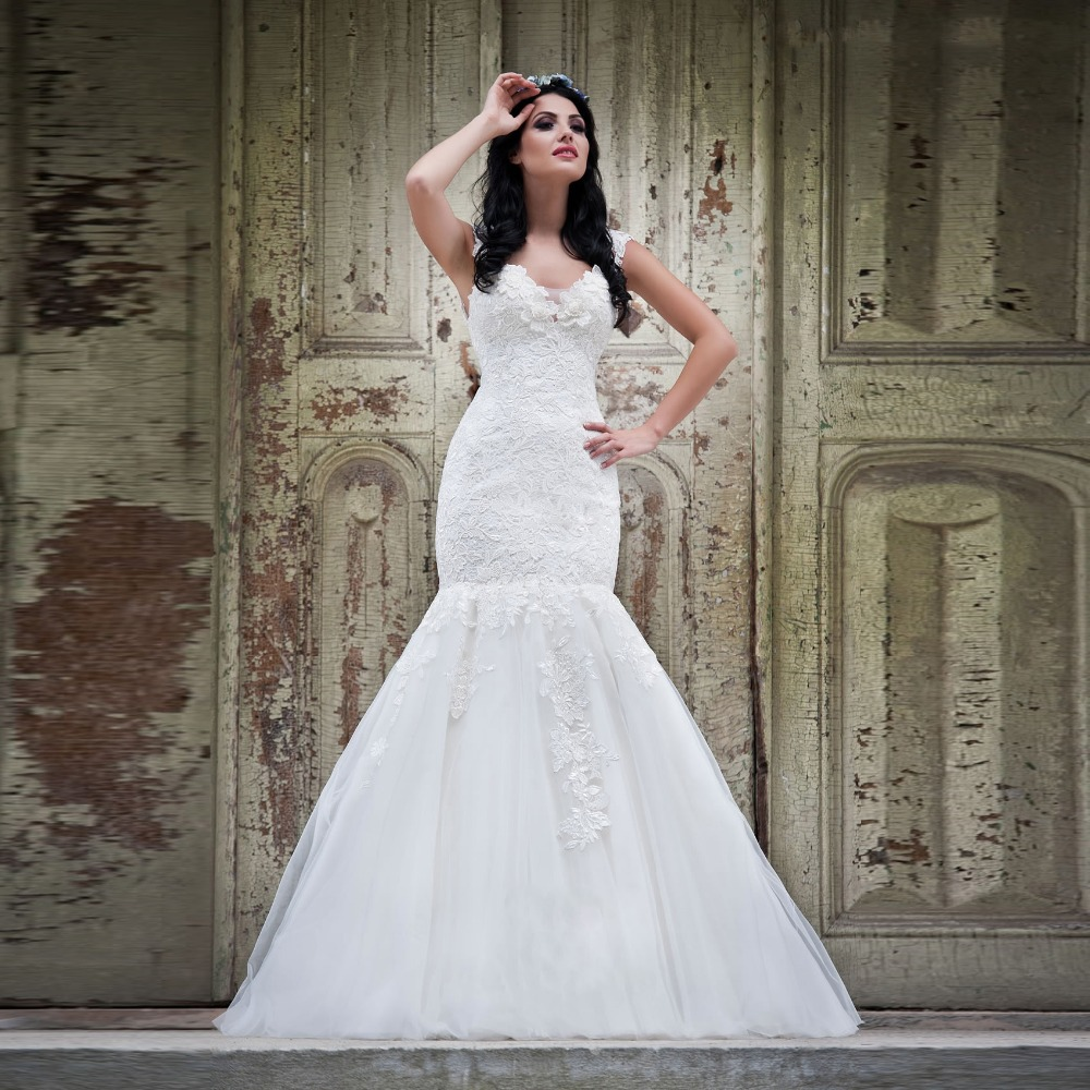 Appliques-2015-Vintage-Wedding-Dresses-Sheer-Anna-Campbell