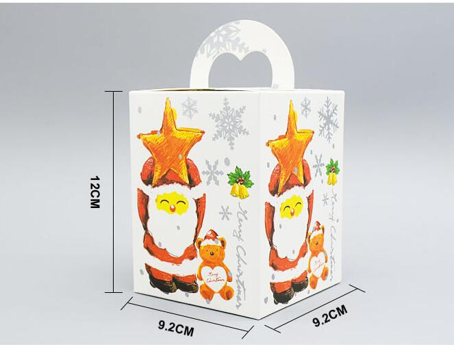 Breezy 9.2x9.2x12cm Present Packing Paper Bags with Handle for Christmas Apples Package, Wedding Candy Bag Christmas Santa Style(China (Mainland))