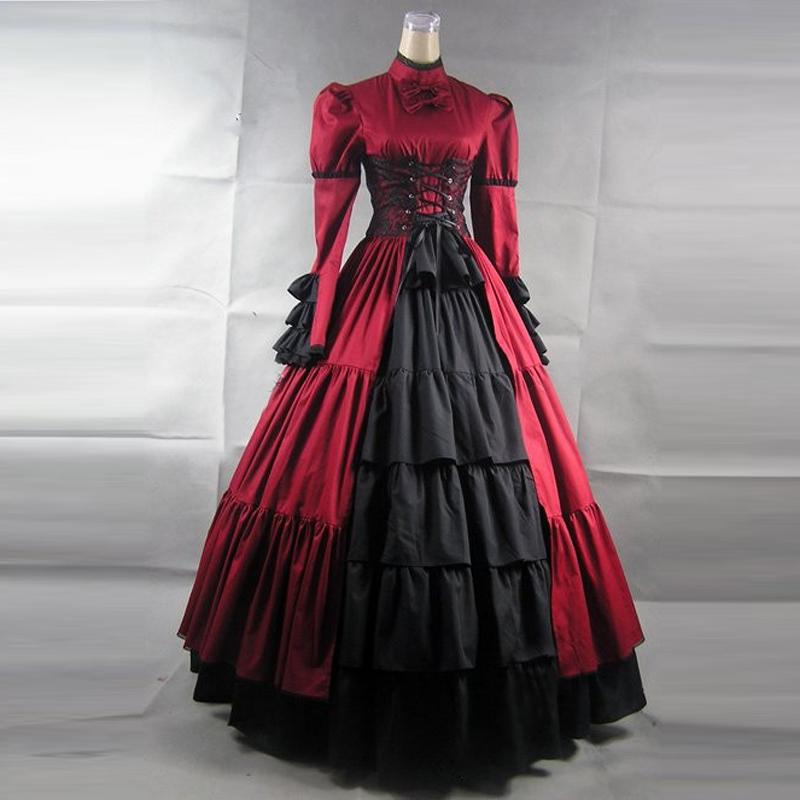 plus size women victorian vintage lolita dress ladies